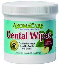 dental wipes, tandverzorging hond, tandreiniging, gebit, tanddoekjes, aloe vera, aromacare