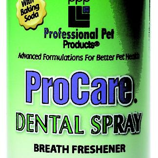 8845, dental spray, tanden spray hond, procare, ademverfrisser hond, tandplak hond, boss and dog