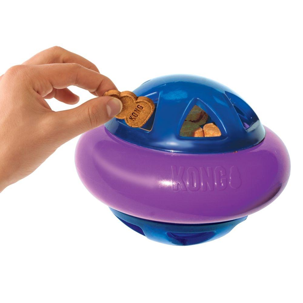 hopz ball kong, kong, bal, hondenspeelgoed, speelgoed voor honden, bal met snacks, boss and dog, REE0736208