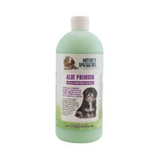 aloe premium 946 ml, natures specialities, hondenschampoo, shampoo voor hond, boss and dog