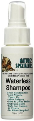 speedy groom, 60 ml, waterless shampoo, droogshampoo, natures specialities, shampoo voor honden en katten, boss and dog