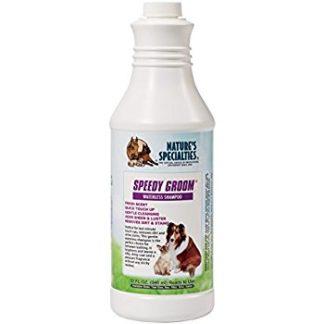 speedy groom, 946 ml, waterless shampoo, droogshampoo, natures specialities, shampoo voor honden en katten, boss and dog