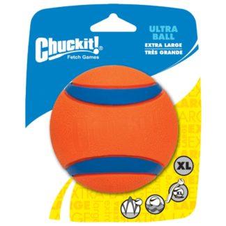 bal, chuckit, aporteren, hond, bal voor hond, hondenspeelgoed, oranje, blauw, boss and dog 0738035