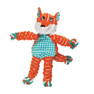 floppy knots fox, oranje vos, speeltouw hond, hondenspeelgoed, speeltje hond, boss and dog1