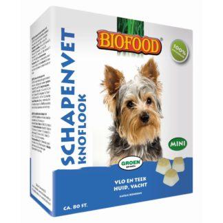 schapenvet knoflook, vlo en teek huid en vacht, knoflookbonbons hond, garlic bonbons, knoflooktabletten, biofood