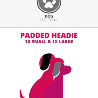 3185, padded headie, hoofdband hond, harde geluiden, waterblazer, tondeuse lawaai, bescherming oren, bossanddog