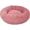 mand glory rond oud roze, donutmand, flamingo. hondenmand, kussen, fluffy mand, boss and dog