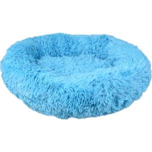 519467 krems licht blauw 50 cm, hondenmand, donut mand hond, ronde mand, fluffy mand, flamingo, boss and dog