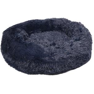 520759 krems marine blauw 50 cm, fluffy mand, ronde mand, hondenmand, donut mand hond, ronde mand, fluffy mand, flamingo, boss and dog
