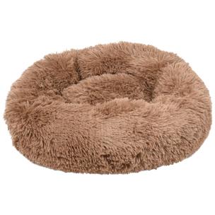 520762 krems mokka 50 cm, fluffy mand, ronde mand, hondenmand, donut mand hond, flamingo, boss and dog