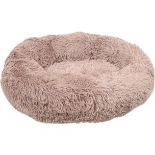 520770 krems licht bruin 50 cm, fluffy mand, ronde mand, hondenmand, donut mand hond, flamingo, boss and dog