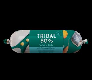 tribal worst witvis, houdbare hondenworst, graanvrij, natuurlijke hondenvoeding, snack hond
