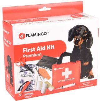 520583, EHBO set, EHBO hond, first aid kit resku basic red, eerste hulp set voor honden, basis set ehbo