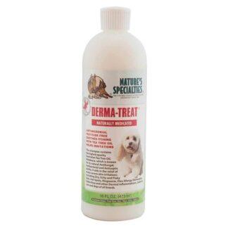 derma treat shampoo 473 ml, holistische shampoo, tea tree olie, natuurlijke shampoo, nature specialieties, hondenshampoo, shampoo voor hond, boss and dog