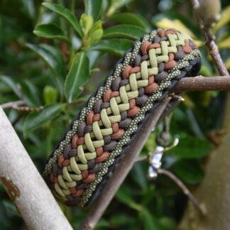 Paracord halsbanden, lijnen, tekenbandjes, sleutelhangers