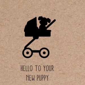 herbafix wenskaarten, gefeliciteerd, wenskaart hond, geboorte hond, liefde hond, puppy geboren