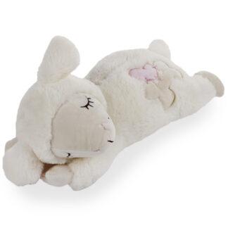little buddy heart beat sheep, knuffelschaap, knuffel met hartslag, verlatingsangst, puppy, puppyknuffel,1