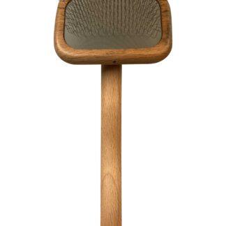 7015wooden slicker luxe small, luxe slicker, houten borstel hond, hondenborstel.png