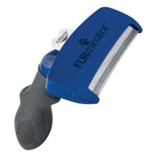 furminator blauw, deshedding tool, kortharige honden, onderwol, losse haren, ontwollen, uitwollen