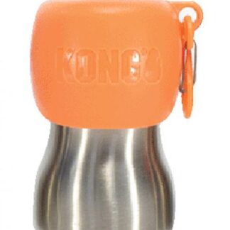 kong waterfles, waterfles kong, water hond, waterfles, kong, drinkwater hond, fles voor onderweg, oranje