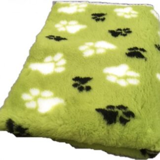 vetbed olijfgroen, vetbed hond, kleed hond, hondenkleed, hondenbed, hondenpootjes