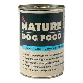 Nature Dog Food-Eend-Zalm-Garnaal-1200x800, blikvoeding hond, natvoer hond, vleesvoeding hond