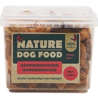 Nature Dog Food-gevriesdroogde snack-hert-1200x800, hondensnack, hertenvlees