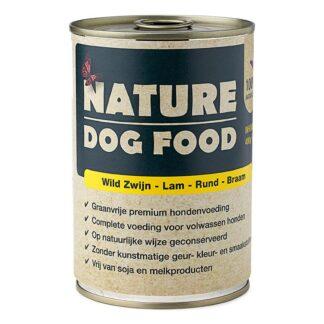 Nature Dog Food-wild zwijn-Lam-Rund-1200x800, natvoer hond, blikvoer hond