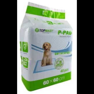 trainingmatten, trainingspads, puppytraining, urine, zindelijkheidstraining, puppy, 60x60 cm